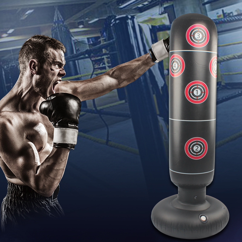 Boxing Punching Bag Inflatables Mma Training Taekwondo Kids Punching Bag Venting Hit Boxing Bag Stand Weight Fitnes Equipment
