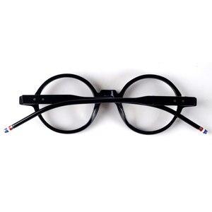 Image 4 - Round designer reading glasses men women anti reflective anti radiation acetate black