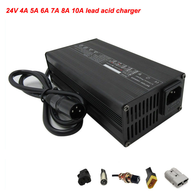 <font><b>24V</b></font> 4A <font><b>5A</b></font> 6A 7A 8A 10A lead acid battery <font><b>charger</b></font> <font><b>24V</b></font> Lead-acid <font><b>charger</b></font> For <font><b>24V</b></font> electric scooter / wheelchair / golf car <font><b>charger</b></font> image