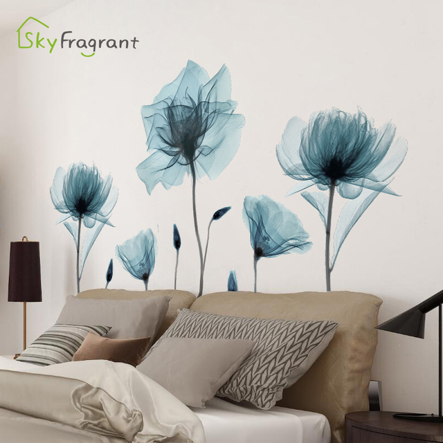 Creative Warm Floral Wall Stickers 8