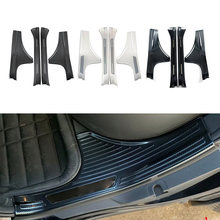 4 TEILE/SATZ Auto Autoinnentürschwellenverschleißplatte Schwelle Schutz Platte Abdeckung Für Subaru Forester 2019 2020 Edelstahl mit logo