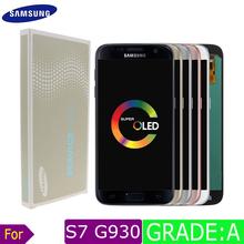 Samsung galaxy s7 ekran lcd samsung s7 wyświetlacz ekran dotykowy wymiana AMOLED ekran dotykowy wyświetlacz dla galaxy s7 lcd digitizer tanie tanio Pojemnościowy ekran 2560x1440 3 LCD i ekran dotykowy Digitizer Nowy Galaxy S7 Krawędzi white black sliver gold pink