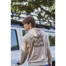 SIMWOOD 2021 Autumn Winter New Road Trip Print Hoodies Fashion Vintage Thick Sweatshirts Plus Size High Quality Clothes SJ120722