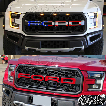For Ford Raptor F150 2017-2018 in the net word mark modified car FORD letter stickers decorative car stickers accessories new car stickers for ford raptor f150 full body appearance modified stickers ranger off road body stickers