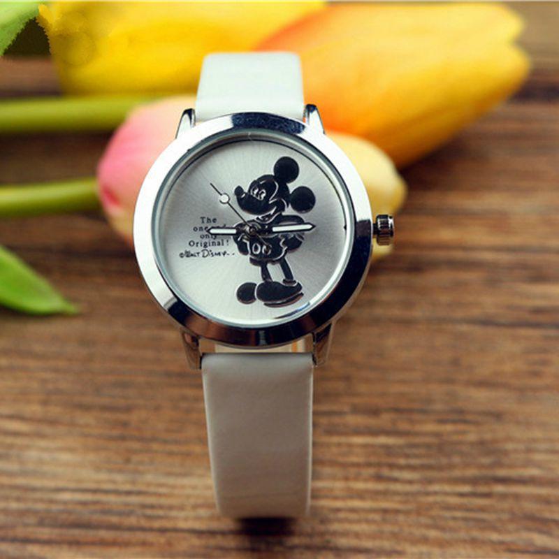 New 3D Mickey Mouse Minnie Quartz Watch Children Student Cartoon Cute Women Ladies Wristwatch Montre Pour Enfants Kinderhorloge