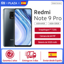 Versión Global Xiaomi Redmi Note 9Pro 64GB 128GB NFC Smartphone Snapdragon 720 64MP Quad Camera Pro 5020mAh 30w FC teléfono móvil