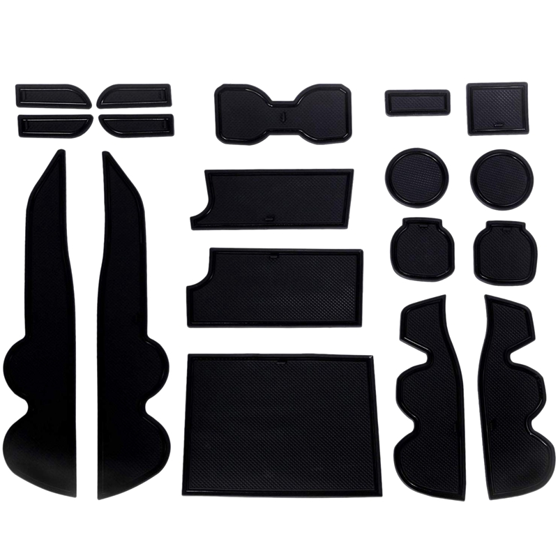 18 Pcs Anti Dust Non Slip Cup and DoorMat Center Liner Accessories for Toyota Tacoma 2016 2017 2018 2019|Anti-Slip Mat| |  - title=