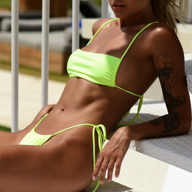 Squier Neck Bikini Set