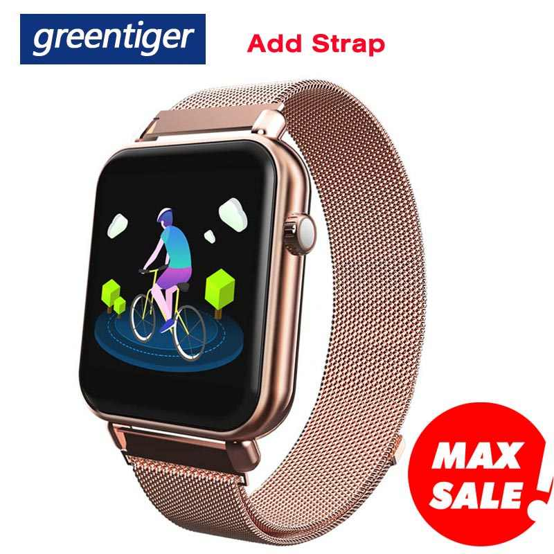 Greentiger Baru Y6 Pro Smart Gelang Detak Jantung Tekanan Darah Oksigen Pelacak Kebugaran Smart Watch Tahan Air Olahraga Smart Band