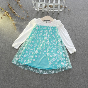 Image 2 - Disney Kids Dresses for Girls Costume Princess Dress Christmas Party Childrens Clothing Embroidered Lace Dancing Elegant
