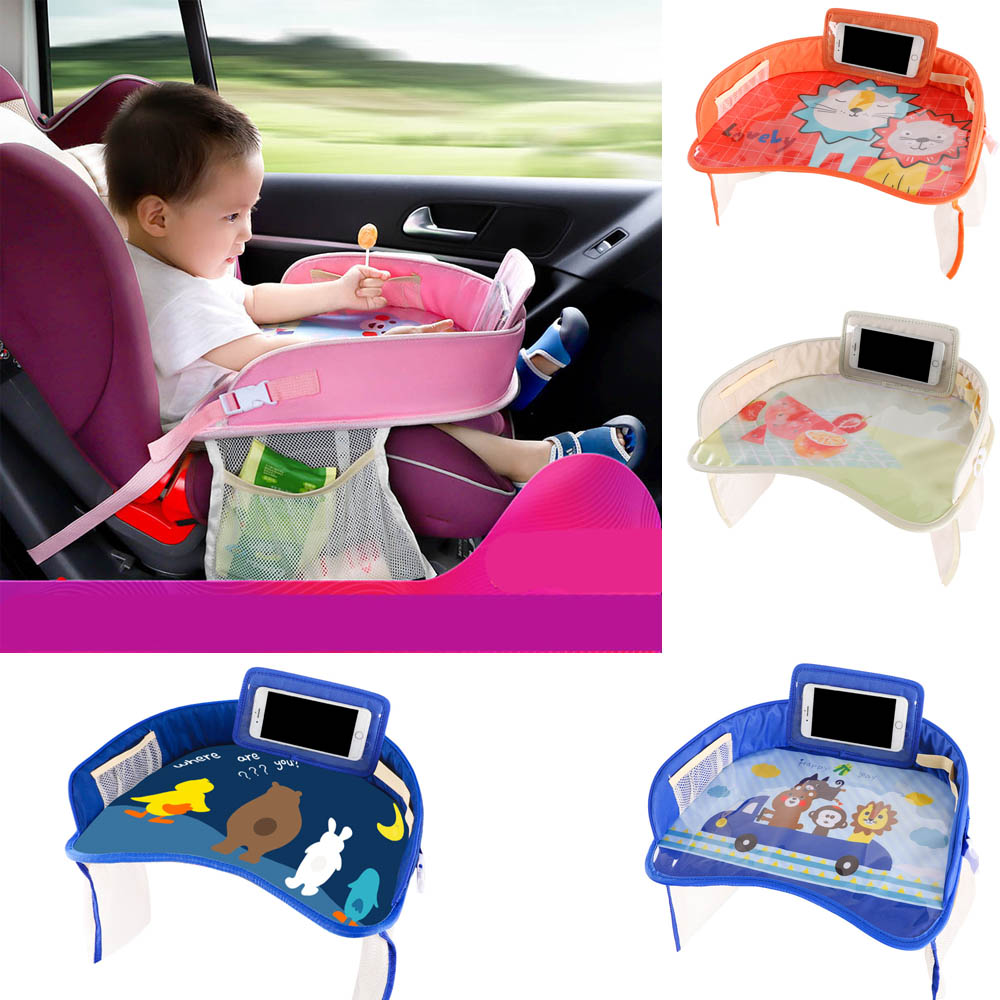 Waterproof Table Car Seat Tray Storage Kids Toys Infant Holder Children Dining Drink Table In-car Accessories Baby Fence