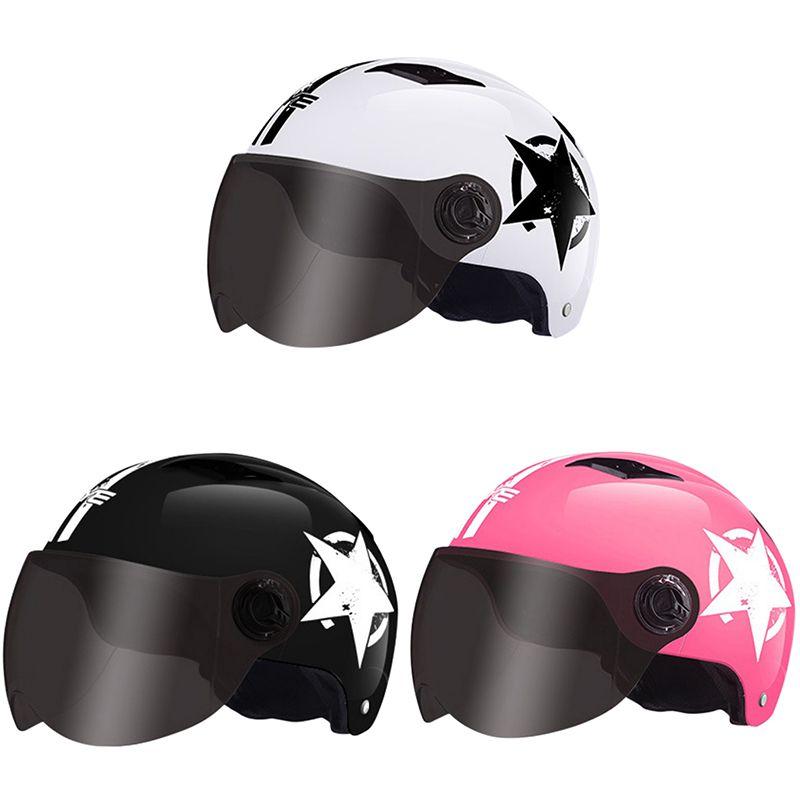 Baseball Cap Style Motorcycle Bike Helmet Anti-UV Safe Hat Visor Silver