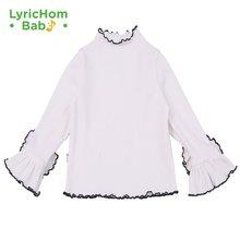 Детская Хлопковая футболка lyrichom модная однотонная Футболка