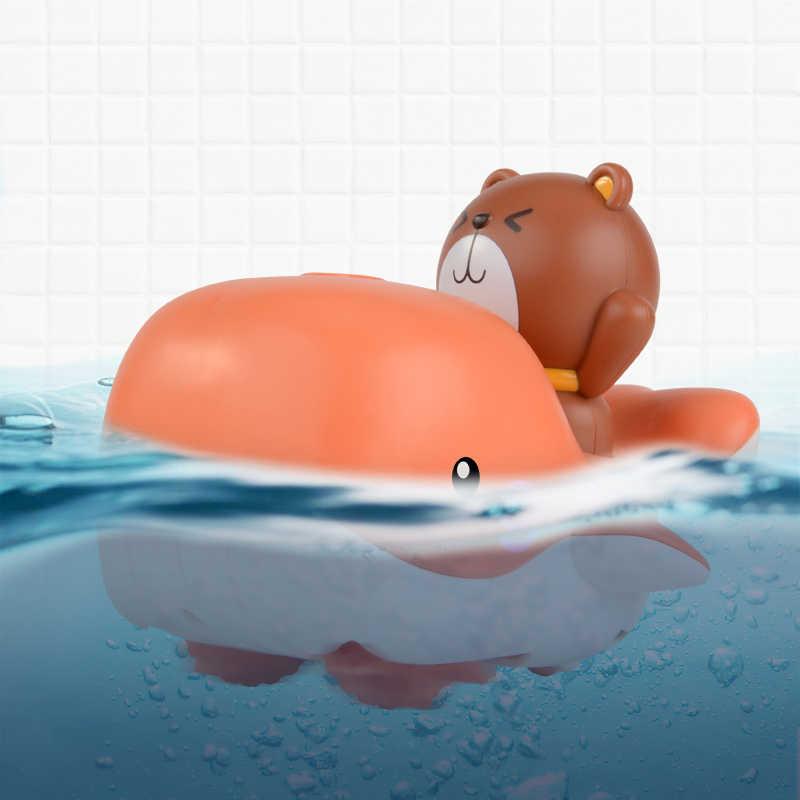 사랑스러운 수영 물 장난감 다채로운 부드러운 물 부동 고래 아기 사자 새끼 물과 땅 호환 아기 목욕 소년 어린이 장난감