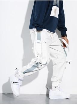 Streetwear Men's Multi Pockets Cargo Harem Pants Hip Hop Casual Male Track Pants Joggers Trousers Fashion Harajuku Men Pants new track pants winter sports trousers straight casual pants male large size multi pocket outdoor running pants streetwear men