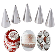 2020 New 5Pcs/set Stainless Steel Icing Piping Nozzles Set Metal Cream Tips Cake Decorating Pastry Tools
