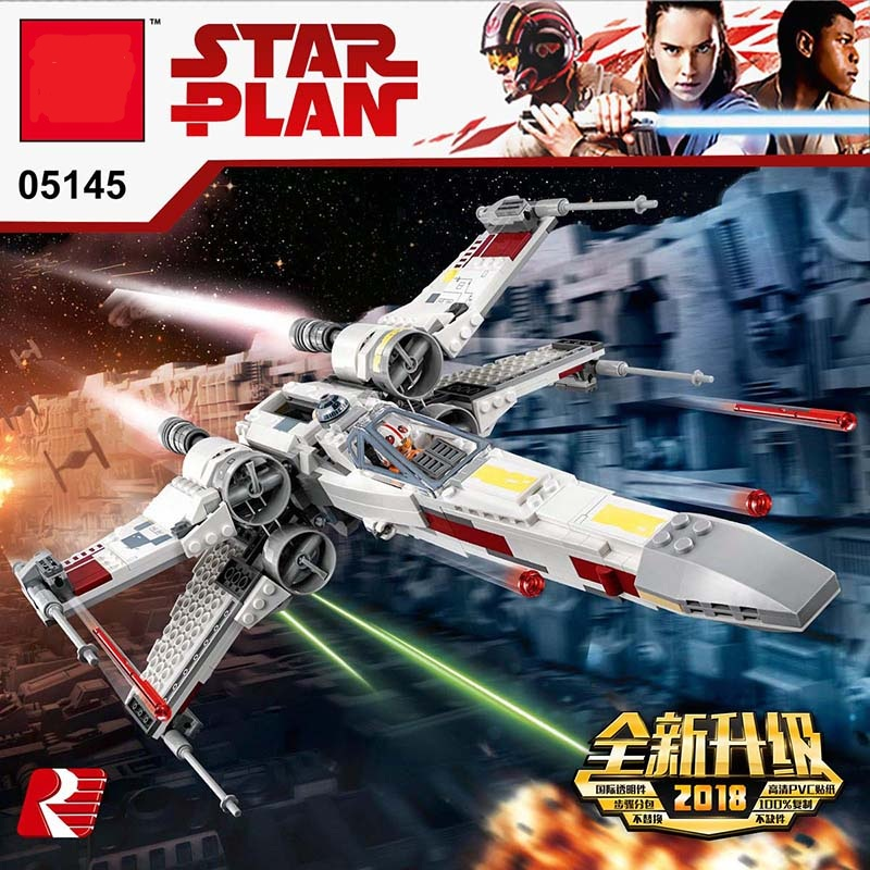 lepinblocks 05145 Star Series X-Wing Starfighter Blocks Bricks Compatible  75218 Building Model Gifts Assembled Gifts