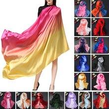 110x190 см модные женские шелк тутового шелкопряда шарф легкий