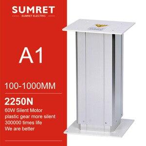 Подъемная колонна 12 В 24 в 100 мм 200 мм 300 мм 400 мм 500 мм 600 мм 700 мм 800 мм 900 мм 1000 мм, регулируемый по высоте стол