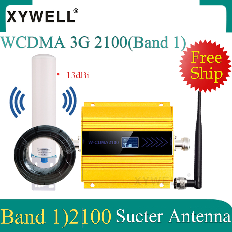 GSM Repeater Gsm 2100MHz 3g Mobile Signal Booster 3G 2100MHz UMTS Signal Repeater Cell Phone WCDMA Amplifier With 4g Antenna