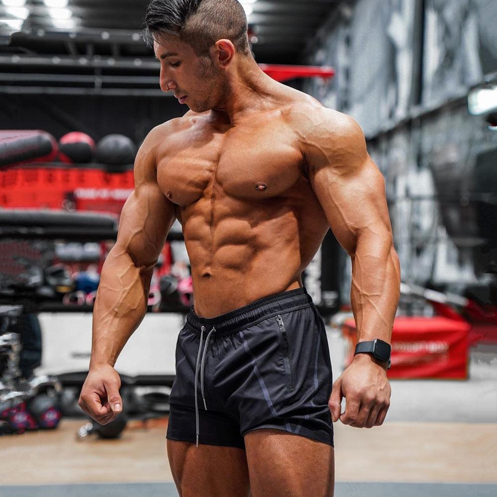 Black Fitness Bodybuilding Shorts Men Gym Workout Bermuda Male Jogger Sport Short Pants Summer New Casual Quick Dry Beach Shorts
