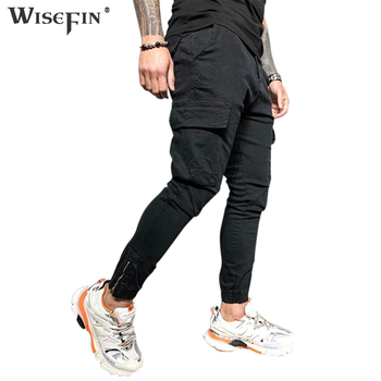 Men Cargo Pants Multi-pocket ightweight cargo pants Casual Insert Pocket Solid Color Fashion Trousers  Streetwear D30