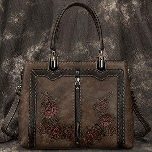 Image 2 - Johnature Retro Handmade Genuine Leather Luxury Handbags Women Bags Designer 2020 New Large Capacity Shoulder & Crossbody Bags