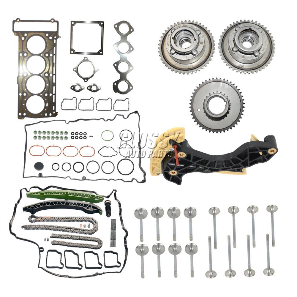 Camshaft Adjuster kit+Valve Cover Gasket+Timing Kit For Mercedes M271 C180 C200