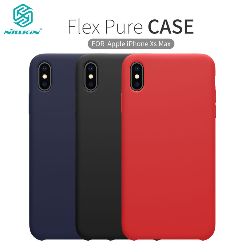 For iPhone XS/ XS Max XR Case Nillkin Liquid Soft Silicone Stronger Protective Back Cover Shell for iPhone <font><b>11</b></font> <font><b>11</b></font> Pro Max чехол image