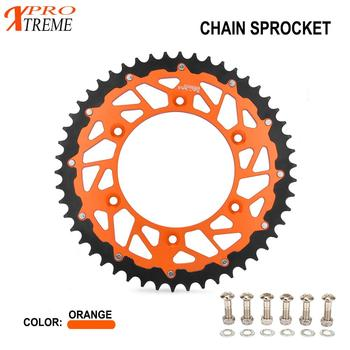 Motorcycle Rear Chain Sprocket For KTM EXC SX XC-W MXC SXS SX-F EXC-F XC-F XCF-W XC-W SMR 125 150 200 250 300 350 450 520 525 cnc motorcycle alloy forged parking side stand kickstand spring for ktm exc exc f xc xc f xc w exc r xcf w xcr w excf xcw