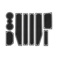 Esteira do sulco da porta 8 pces para range rover evoque 2012-2018 esteira de borracha anti-deslizamento porta entalhe copo almofada estilo do carro