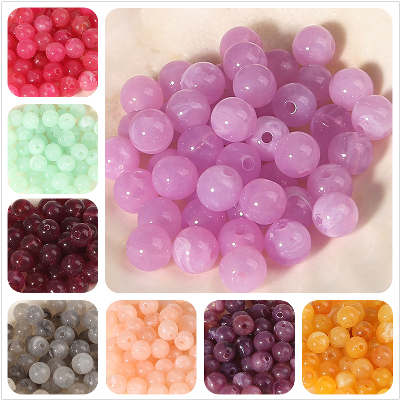 Beads-Effect Jewelry Craft Loose-Beads Round DIY Acrylic Clouds Wholesale Making-Findings