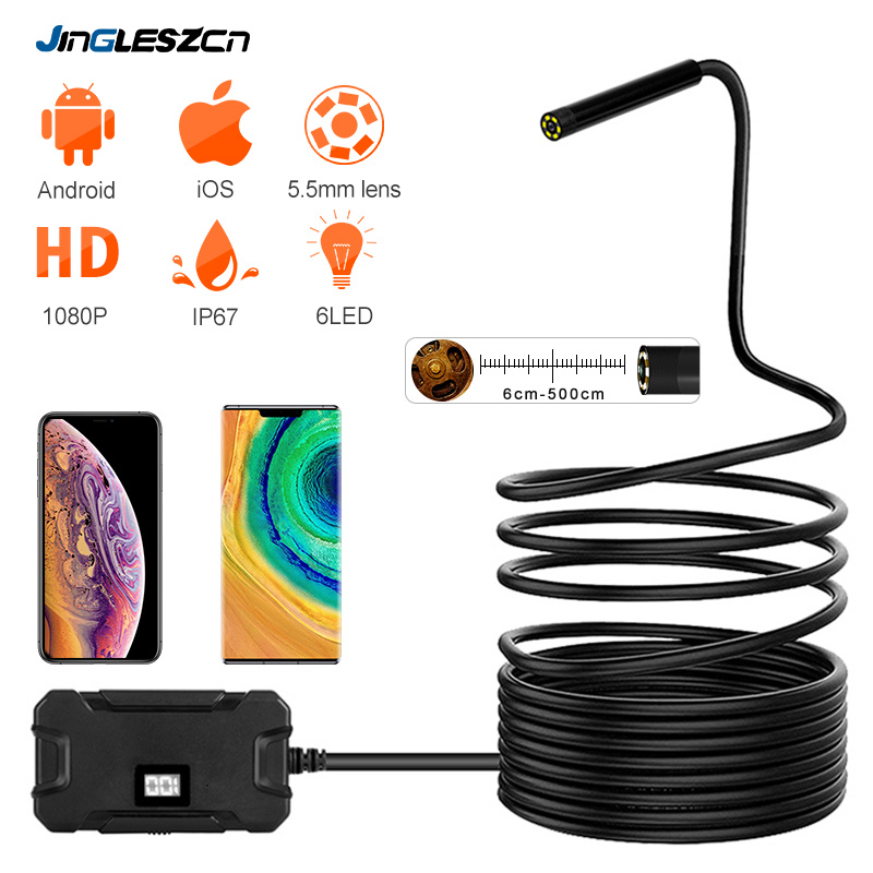 Wireless Endoscope Camera Tablet Inspection-Snake-Camera Wifi Waterproof Android HD  title=