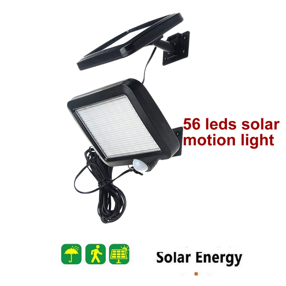 56 LED Solar Lamp Outdoor Motion Garden Solar Light Street Wall+Lamp Infrared Sensor Indoor Home Outdoor Security Yard Spotlight