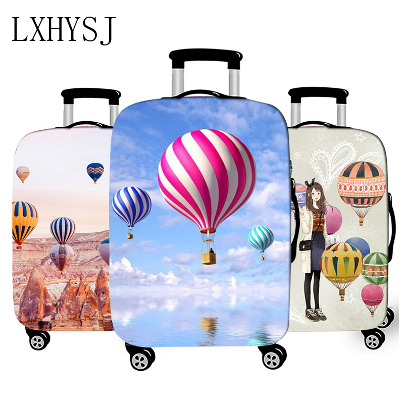 Hot Air Balloon Luggage Cover Thicken Travel Luggage Protective Covers Suitable For 18-32 Inch Elasticity Trolley Case Cover