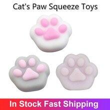 2020 новинка мода милый мягкий кошка коготь сжимание игрушка рождество шутка подарок силикон декомпрессия анти стресс непоседа мягкая игрушка