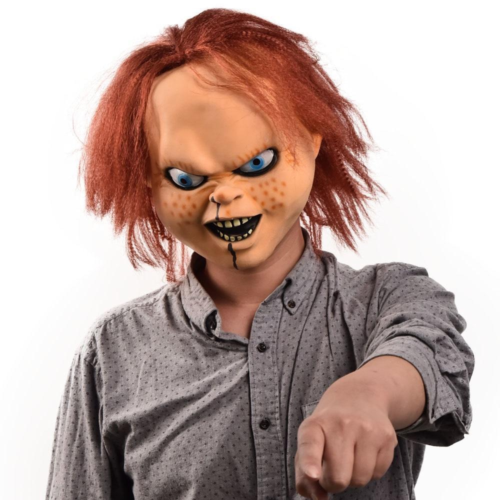 2021 г., маска Чаки, Детский костюм для игр, маски призрака, Чаки, ужасное лицо, латексная маска, Хэллоуин, дьявол, убийца, кукла, шлем