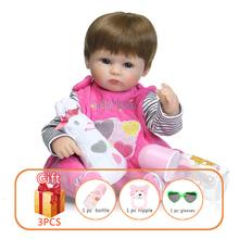 40cm Baby Silicone Doll Reborn Handmade Simulated Soft Toy Child Toddlers Skin Lifelike Dolls Toys For Kid