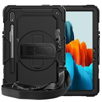 Funda protectora para Samsung Galaxy S7 Plus, correa de mano, giratoria, soporte de apoyo, 360 pulgadas, SM-T970/T975/T976