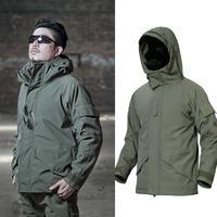 Tactical Fleece Jacket Softshell Camouflage Men 3 in 1 Thermal Hoodie Men's Windbreakers Waterproof Man Military Uniform Fishing