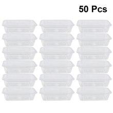 50 stücke Transparent Frucht Tragen Out Box Einweg Salat Mahlzeit Container Lebensmittel Lagerung Box Nehmen Heraus Verpackung Box (500-1000ml)