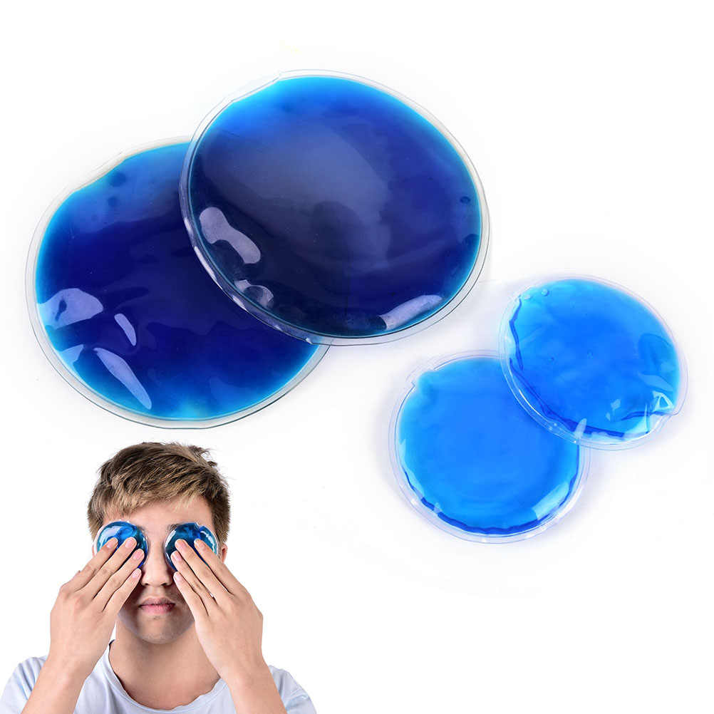 New Microwaveable Heat Pain Relief Dia Round Shape Reusable Ice Cold Hot Gel Pack 7cm/11cm