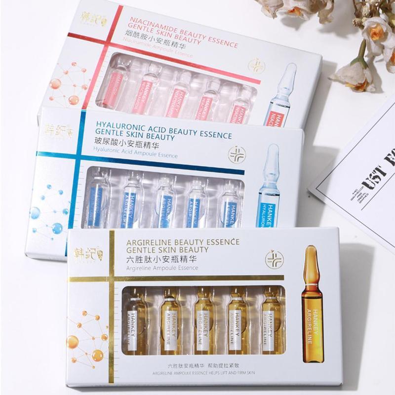 7pcs Professional Moisturizing Nourishing Hyaluronic Acid Face Serum Nicotinamide Whitening Spotless Ampoule Skin Care
