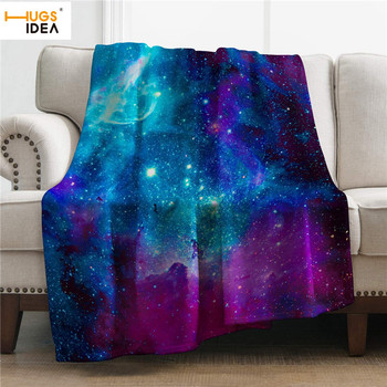 HUGSIDEA Custom Photo Design 2020 Flannel Fleece Blanket Galaxy Space Pattern Sofa Warm Bed Throw Blanket Adult Blanket all over pattern blanket