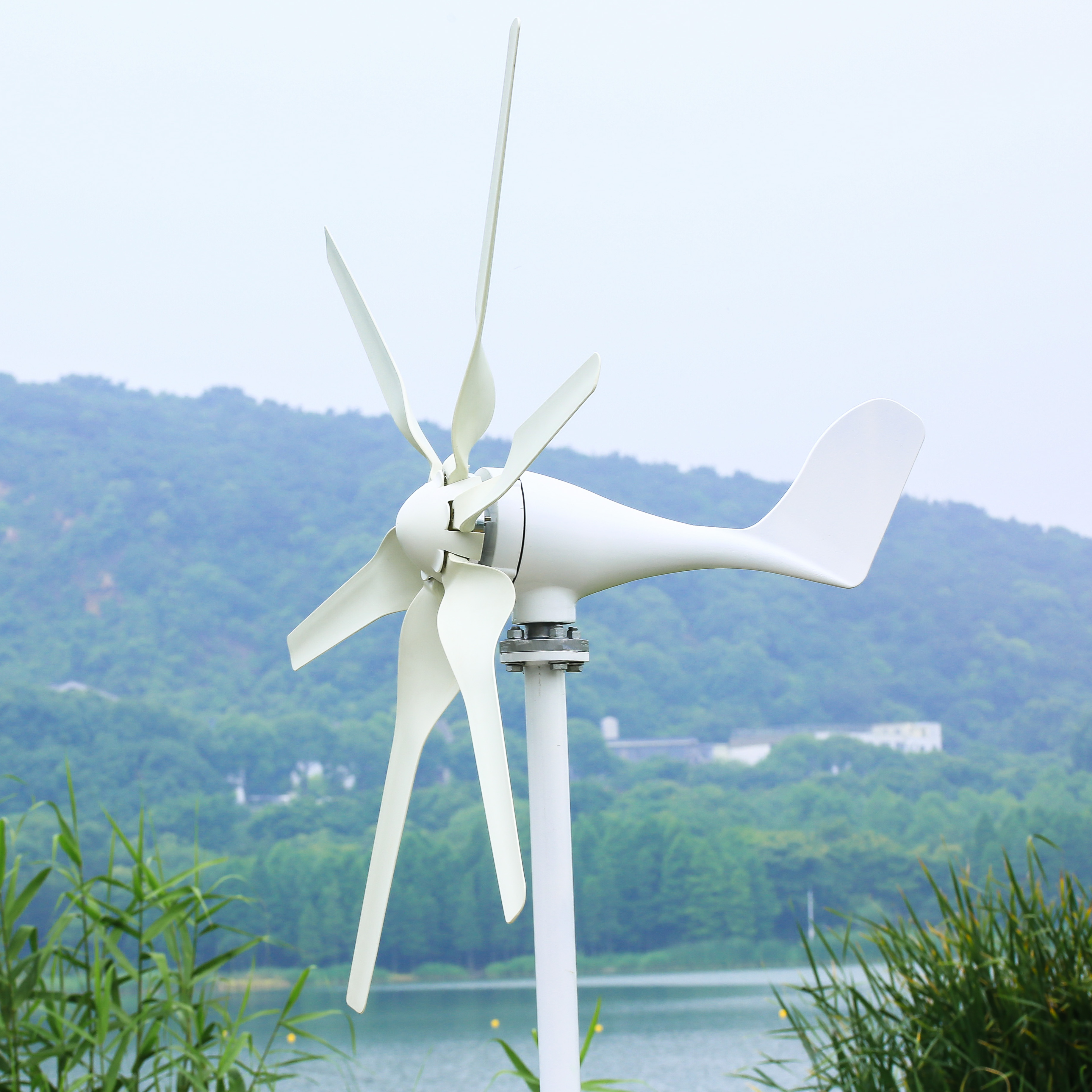 400W Wind Turbine Generator with 3/5/6PCS Blades Controller 3 Phase 12V/24V  Generation for Land Boat 3 Years Warranty.
