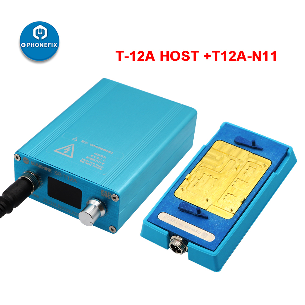 SS-T12A Desoldering Station T12A-N11 Heating Groove Preheating Separating For IPhone 11/11Pro/11Pro Max A13 CPU NAND Heating