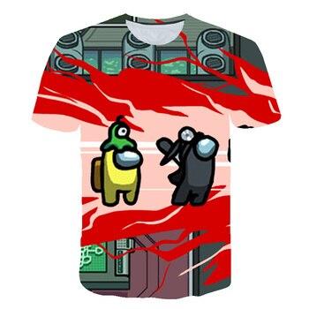 2020 Video Game Among Us T-shirt 3D O-Neck child shirt Infant Summer Short Sleeve Tee Unisex Streetwear Harajuku Fashion Clothes
