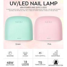 48W Nail Lamp Dryer UV LED Gel Nails Dryer Infrared Sensor Timer Setting Manicure Machine Tool