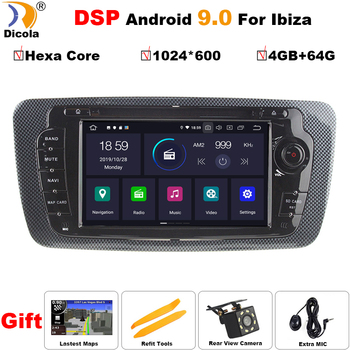 PX6 DSP Android 9 Car DVD Radio For Seat Ibiza 6j 2009 2010 2012 2013 GPS Navigation 2 Din Screen radio Audio Multimedia Player