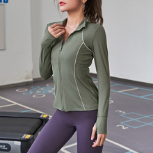 Sports Jacket Fitness-Top Yoga-Wear Running-Tight Long-Sleeve Women's Autumn Gym Casual